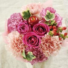 フラワーギフト ミニフラワーケーキ ストロベリーピンク 生花 送料無料 誕生日 記念日 お祝い ギフト