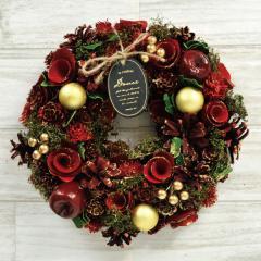 クリスマスリース C.キャロルレッド 季節のインテリア アートリース 送料無料(一部地域を除く)