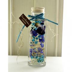 フラワーギフト フラワーキッチンオリジナル ハーバリウム ブルーバイオレット 角瓶 送料無料(一部地域を除く) ギフト対応可