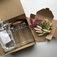 ハーバリウム 手作りキット ボトル3本 植物標本