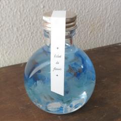 フラワーギフト ハーバリウム 丸形ボトル ブルー 送料無料(一部地域を除く) ギフト対応可