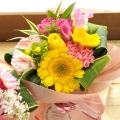 フラワーギフト 旬のスタンディングブーケ ミックス 生花 送料無料 誕生日 記念日 お祝い ギフト