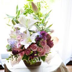 フラワーギフト ルミエール ピンク 生花 送料無料の画像
