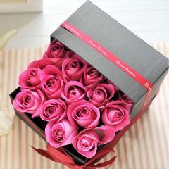 フラワーギフト 20本バラオープンボックス ピンク 生花 送料無料の画像