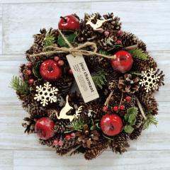 クリスマスリース K.トナカイスノー 季節のインテリア アートリース 送料無料(一部地域を除く)