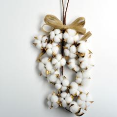 クリスマススワッグ コットンのスワッグ 季節のインテリア 送料無料(一部地域を除く)