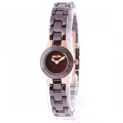 フォリフォリ MISS FF セラミックウォッチ/腕時計(ブラウン)