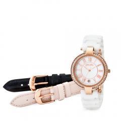 フォリフォリ CLASSY TWIST 3カラーチェンジャブルウォッチ / 腕時計(ホワイトセラミック・ライトピンク・ブラック)