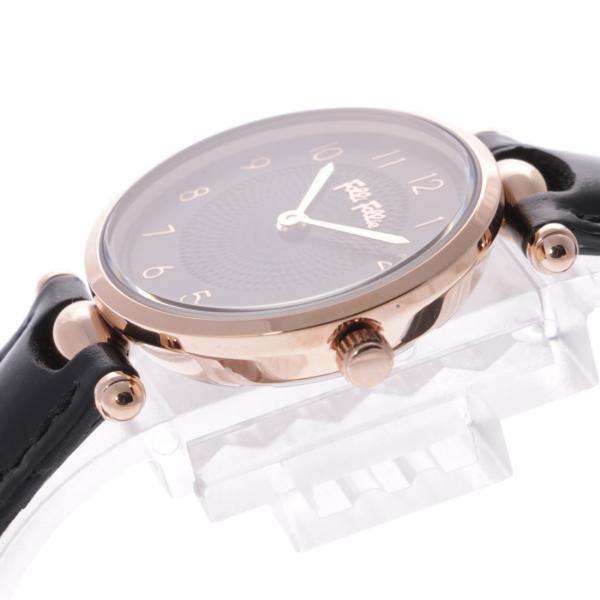 フォリフォリ LADY CLUB レザーウォッチ / 腕時計(ブラック)