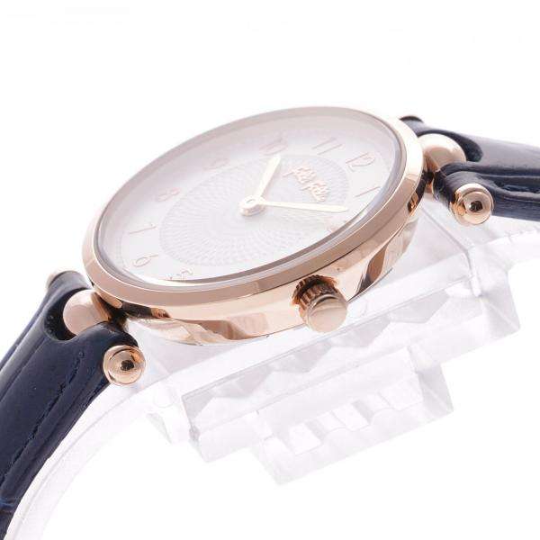 フォリフォリ LADY CLUB レザーウォッチ / 腕時計(ネイビー)