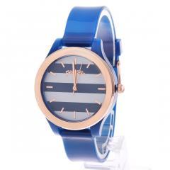 フォリフォリ CLUB RIVIERA ストライプウォッチ/腕時計(ブルー)