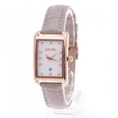 フォリフォリ STYLE SWING レザーウォッチ/腕時計(グレー)