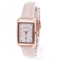 フォリフォリ STYLE SWING レザーウォッチ/腕時計(ピンク)