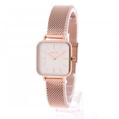 フォリフォリ TIMELESS BONDS スクエアメッシュベルトウォッチ/腕時計S(ピンクゴールド)