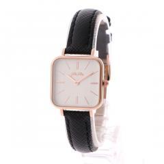 フォリフォリ TIMELESS BONDS スクエアレザーウォッチ/腕時計S(ブラック)
