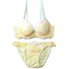フランデランジェリー(fran de lingerie) rainy flower レイニーフラワー ペアブラジャー B-Fカップ