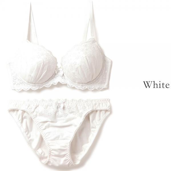 フランデランジェリー(fran de lingerie) Cotton Dragee コットンドラジェ ペアブラジャー A-Gカップ