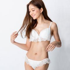 フランデランジェリー(fran de lingerie)Lacy Ruffle レーシーラッフル ブラ&ショーツセット B-Gカップ