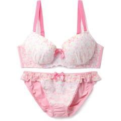 フランデランジェリー(fran de lingerie) Flower Dress フラワードレス ペアブラジャー B-Gカップ