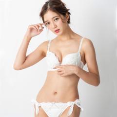 フランデランジェリー(fran de lingerie)Sheer Brooch シアーブローチ ブラ&ショーツセット B-Gカップ
