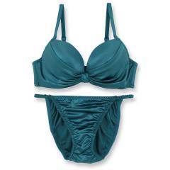 フランデランジェリー(fran de lingerie)Smooth Ribbon スムースリボン ブラ&ショーツセット B-Gカップ