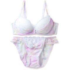 フランデランジェリー(fran de lingerie) ふわ盛 Marble Ribbon deux マーブルリボンドゥ ペアブラジャー B-Cカップ