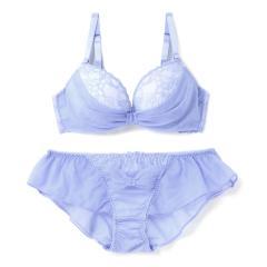 フランデランジェリー(fran de lingerie)【ふわ盛】Tulle Ribbon チュールリボン ペアブラジャー E-Gカップ