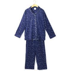 フランデランジェリー(fran de lingerie) twinkle satin セットアップ星柄サテンシャツパジャマ