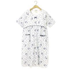 フランデランジェリー(fran de lingerie)Perfume cotton cotton100%香水瓶柄 (カップ付き)前開きワンピース