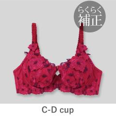 フランデランジェリー(fran de lingerie)【らくらく補正】Grace Grande グレースグランデ コーディネートブラジャー B-Dカップ