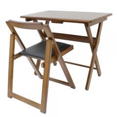 便利デスク・椅子セット ブラウン
