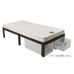ESP-01 オリジナル組み立てベッド(マットレス付き) (シングルダークブラウン)FB-Hワンパック