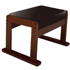 高座椅子対応 オットマンスツール ブラックレザー