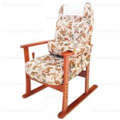 肘付き高座椅子【安定型】 ベージュフラワー