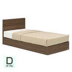 【送料設置無料】フランスベッド お買い得ベッドセットH PR70-05F 収納なし ダブル ウォールナット
