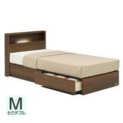 【送料設置無料】フランスベッド お買い得ベッドセットJ PR70-06C 引出し セミダブル ウォールナット