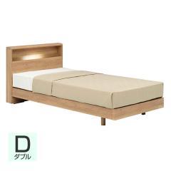 【送料設置無料】フランスベッド お買い得ベッドセットJ PR70-06C レッグ ダブル ナチュラル