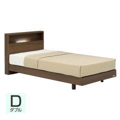 【送料設置無料】フランスベッド お買い得ベッドセットJ PR70-06C レッグ ダブル ウォールナット