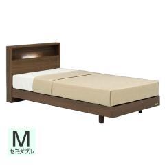 【送料設置無料】フランスベッド お買い得ベッドセットJ PR70-06C レッグ セミダブル ウォールナット