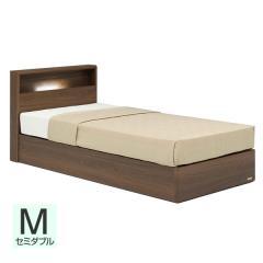 【送料設置無料】フランスベッド お買い得ベッドセットJ PR70-06C 収納なし セミダブル ウォールナット