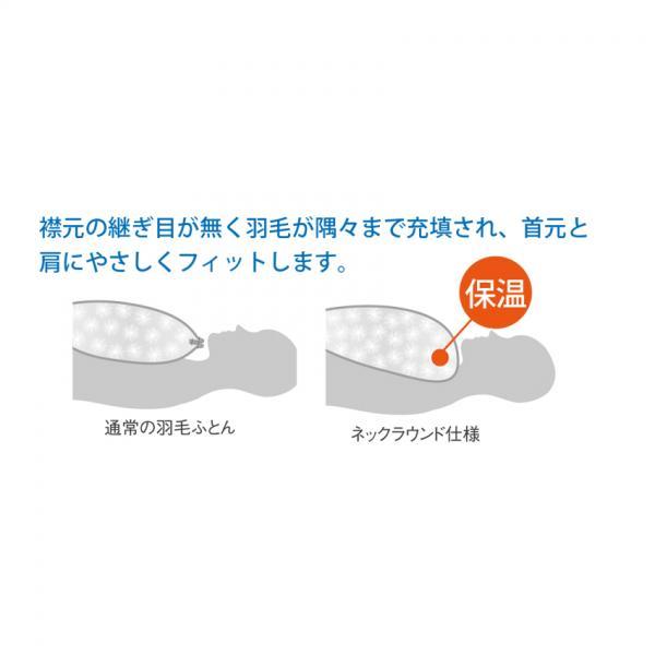 ポーランド産ホワイトグースダウン(認定書付き)フランスベッド販売 羽毛布団 ポエム シングル ブルー
