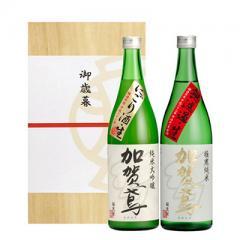 【季節数量限定】加賀鳶 季節酒セット(極寒生・にごり生)720mL2本桐箱入り