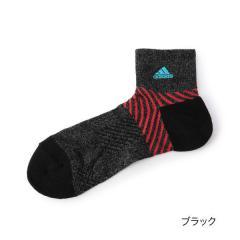 adidas(アディダス) つま先かかとパイル ショート丈ソックス/ブラック/25-27cm