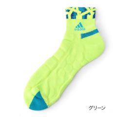 adidas(アディダス) 総パイル×メッシュ クルー丈ソックス/グリーン/25-27cm