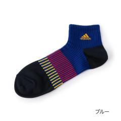 adidas(アディダス) 足底3段階サポート設計 ショート丈ソックス/ブルー/25-27cm