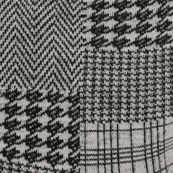 fukuske FUN (フクスケ ファン) レディースイ レトロ スパイラル トラッド 履き口ソフト つま先かかと補強 クルー丈ソックス/ネイビー/23-25cm