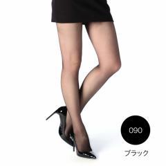 fukuske FUN 【肌ざわりなめらか】 ストッキング/ブラック/L-LL