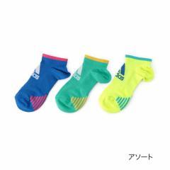 adidas(アディダス) 3足組 スポーツ フロントロゴ スニーカー丈 ソックス/アソート/23-25cm
