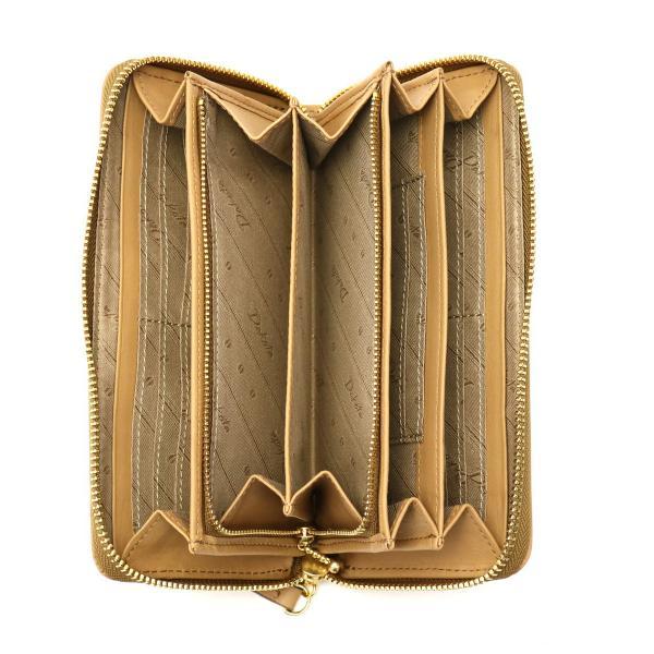 ダコタ Dakota 長財布 フォーチュン 小銭入れあり ラウンドファスナー 財布 レザー レディース 0035782 マスタード(53)