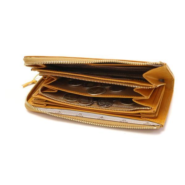 ダコタ Dakota 長財布 カッシーニ 小銭入れあり L字ファスナー 財布 レザー レディース サイフ 0036043 オレンジ(34)